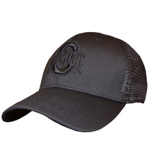 Top of the World Ohio State Buckeyes Black Trucker Hat