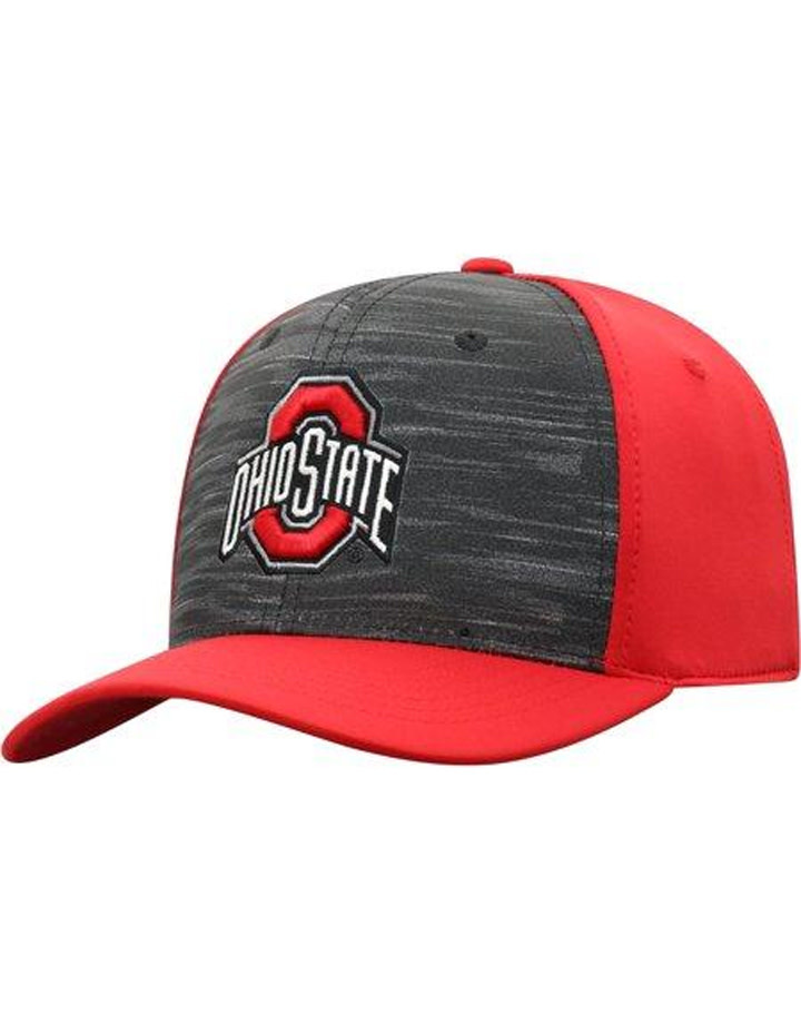 Top of the World Ohio State Buckeyes Grey/Scarlet Pepper Fit Flex Hat
