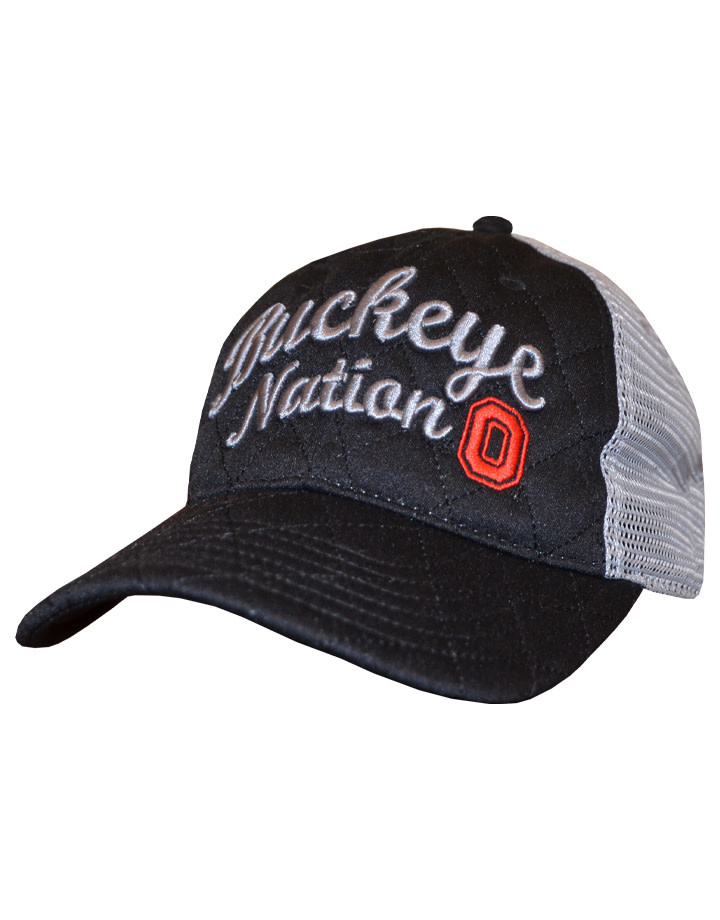 Top of the World Ohio State Buckeyes Women's Inflate Adjustable Hat- Black/Grey