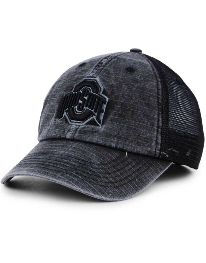 Top of the World Ohio State Buckeyes Ploom 1 Black Trucker Hat