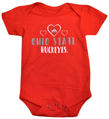 Ohio State Buckeyes Heart Onesie