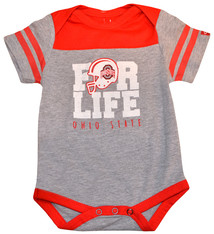 "Ohio State Buckeyes ""For Life"" Onesie"