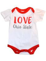 Ohio State Buckeyes Girl Love Onesie