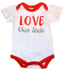 Ohio State Buckeyes Girl Love Onesie