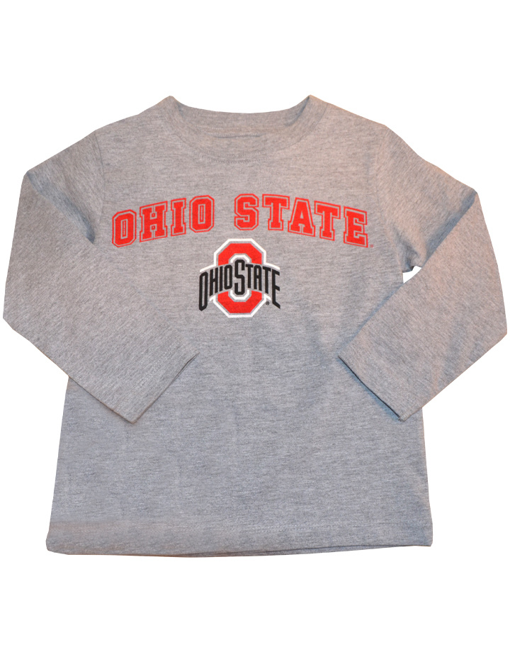 Ohio State Buckeyes Toddler Long Sleeve - Gray