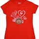 Ohio State Buckeyes Toddler Girls V-Neck Tee - Red