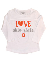 """Love"" Ohio State Toddler Girls Long Sleeve"