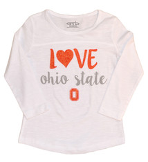 """Love"" Ohio State Youth Girls Long Sleeve"
