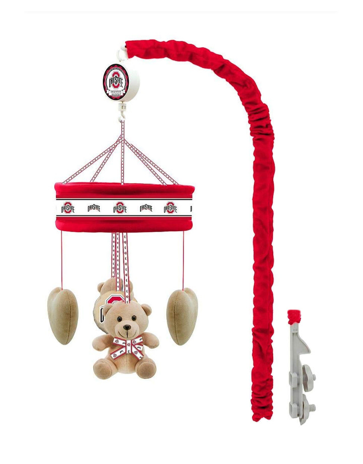 Ohio State Buckeyes Baby Crib Musical Mobile