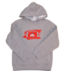Ohio State Buckeyes Youth Gray Football Hoddie