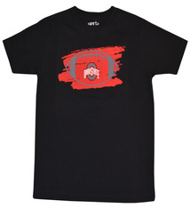 Ohio State Buckeyes Youth Football Logo Tee- Black