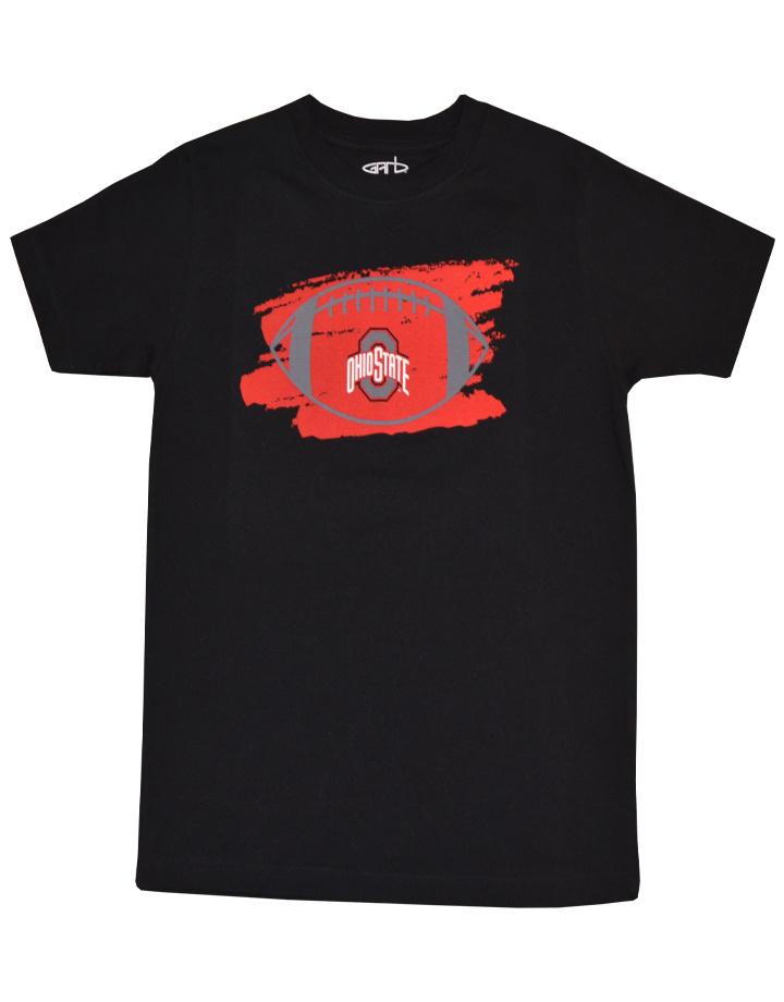 Ohio State Buckeyes Youth Football Logo Tee- Black