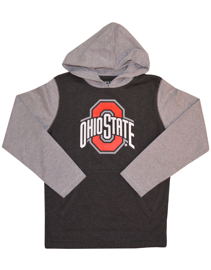 Ohio State Buckeyes Youth Hooded Long Sleeve