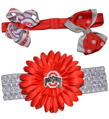 Ohio State Buckeyes Headband Gift Set - Infant