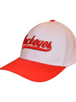 Top of the World Ohio State Buckeyes White Stretch Fit Hat