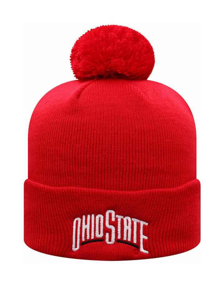 Top of the World OHIO STATE BUCKEYES RETRO Two Sided WINTER Beanie