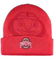 Top of the World Ohio State Buckeyes Scarlet Overshadow Cuffed Knit Hat