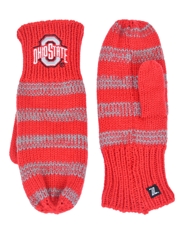 Ohio State Buckeyes Stripe Womens Gloves