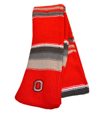 Top of the World Ohio State Buckeyes Three Tone Knit Scarf