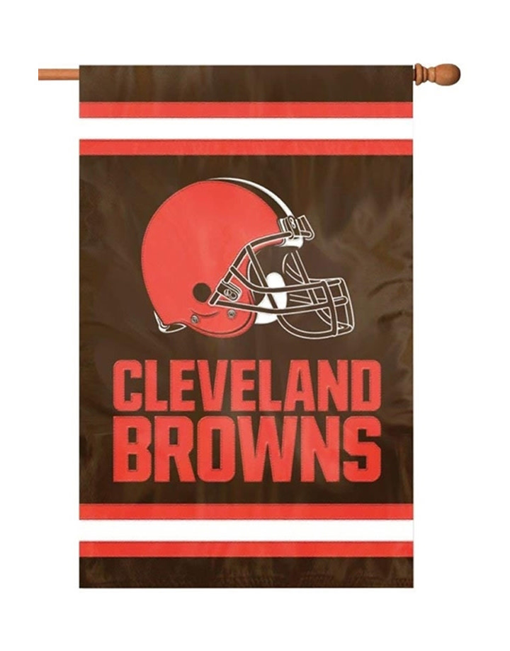 Cleveland Browns 2 Sided Applique House Flag