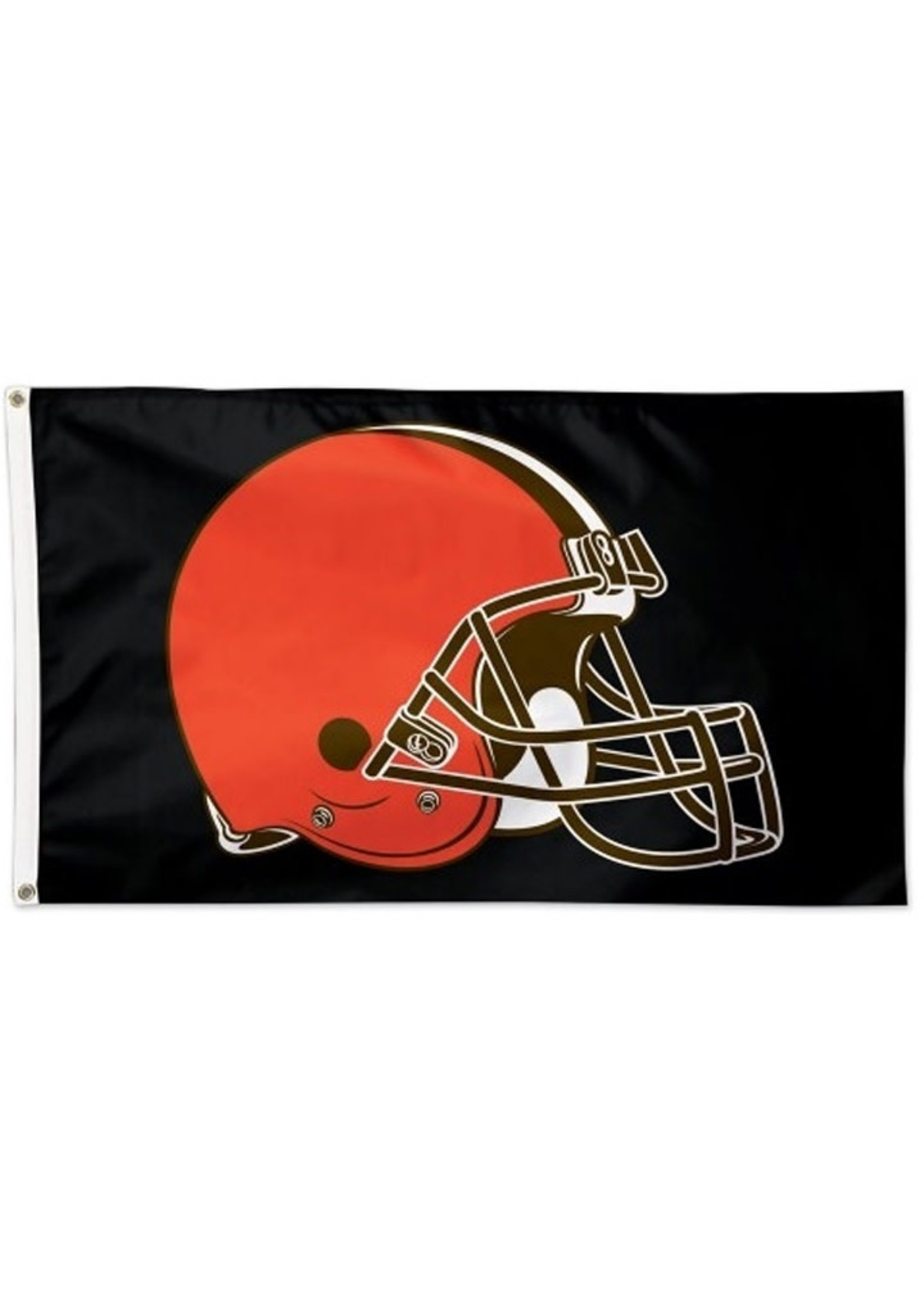 Wincraft Cleveland Browns 3x5 Helmet Flag on Black