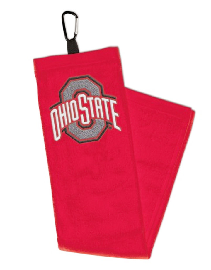 Wincraft Ohio State Buckeyes Embroidered Golf Towel w/Carabiner