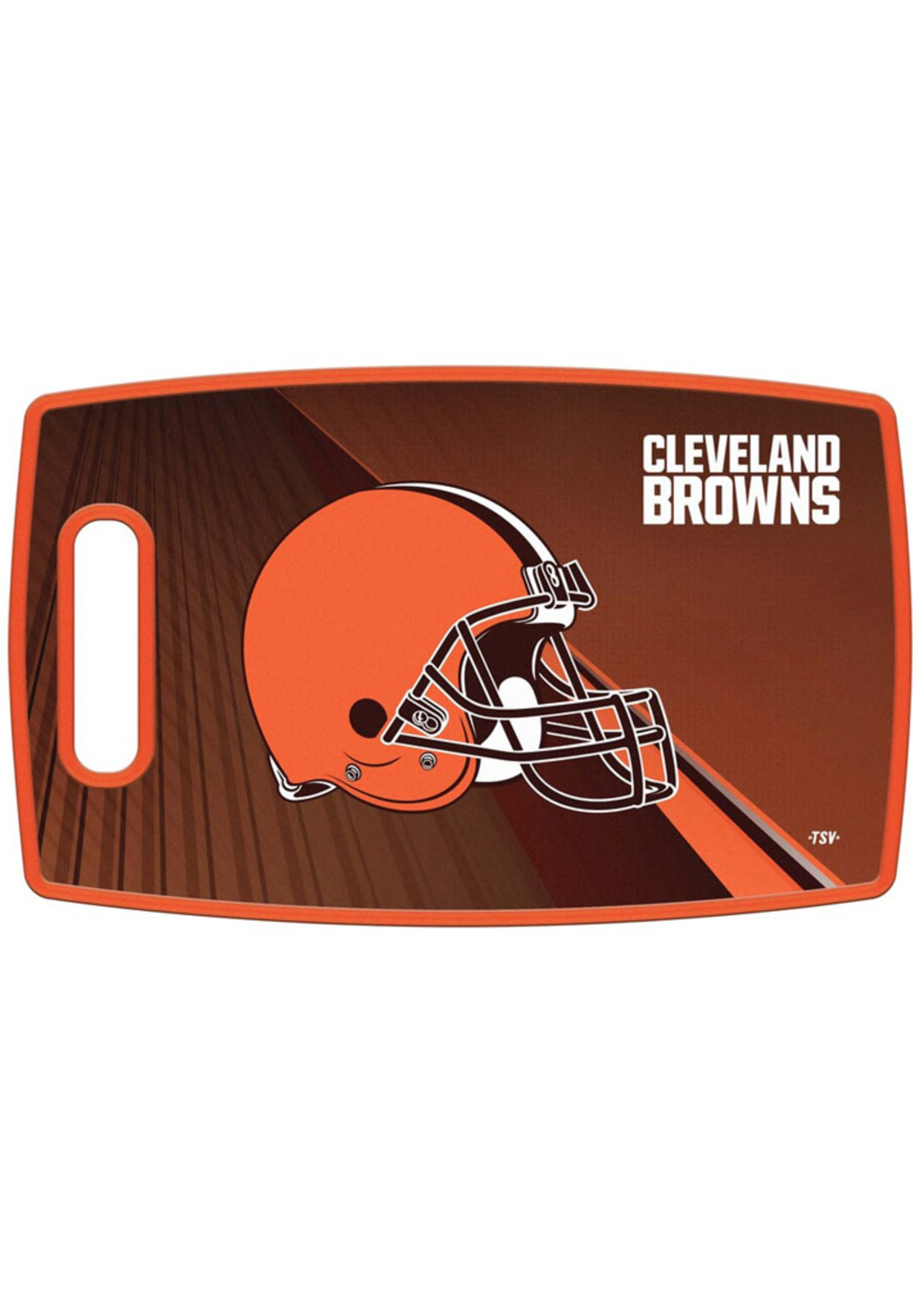 """Cleveland Browns 14.5"""" x 9.5"""" Large Cutting Board"""