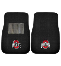 Ohio State Buckeyes 2-Piece Embroidered Car Mat Set