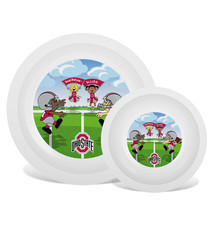 Ohio State Buckeyes Kids Plate & Bowl Set