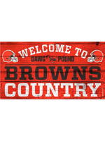 """Wincraft Cleveland Browns 13""""x24"""" Wood Sign"""