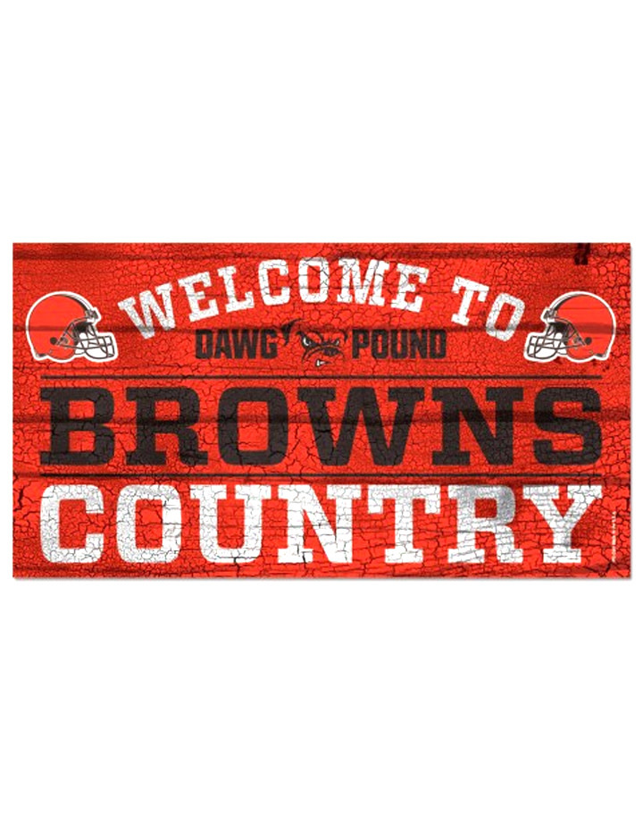 "Wincraft Cleveland Browns 13""x24"" Wood Sign"