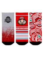 Ohio State Buckeyes Toddler Socks 3-Pack