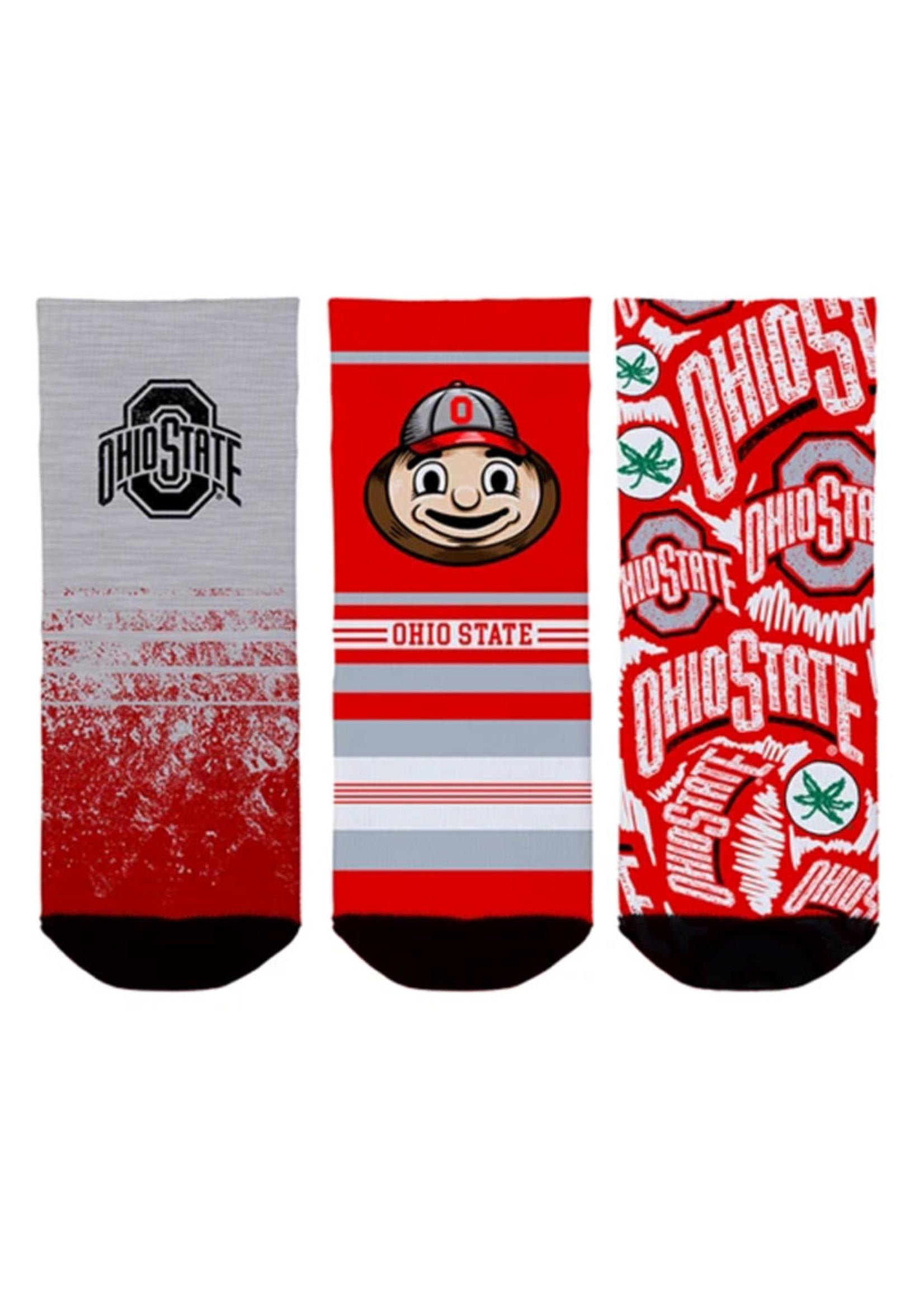 Ohio State Buckeyes Toddler Socks 3-Pack