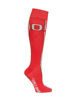 Ohio State Buckeyes Helmet Stripe Red Dress Socks