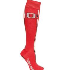Ohio State Buckeyes Helmet Stripe Red Dress Socks