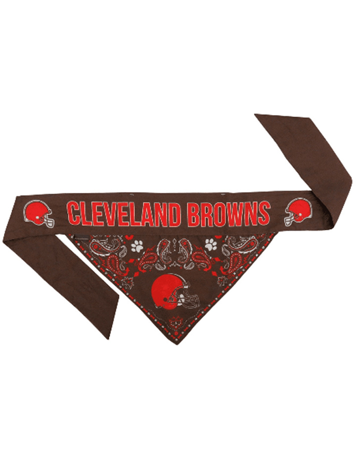 Cleveland Browns 2 Sided Pet Bandanna