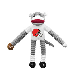 Cleveland Browns Sock Monkey Pet Toy