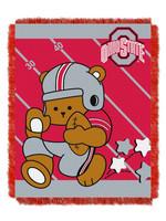 "Ohio State Buckeyes ""Fullback"" Baby Woven Jacquard Throw"
