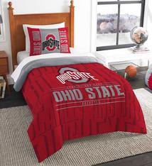 Ohio State Buckeyes Twin Comforter & Sham Set