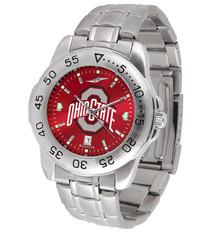 Ohio State Buckeyes Men's Sport Steel AnoChrome Watch