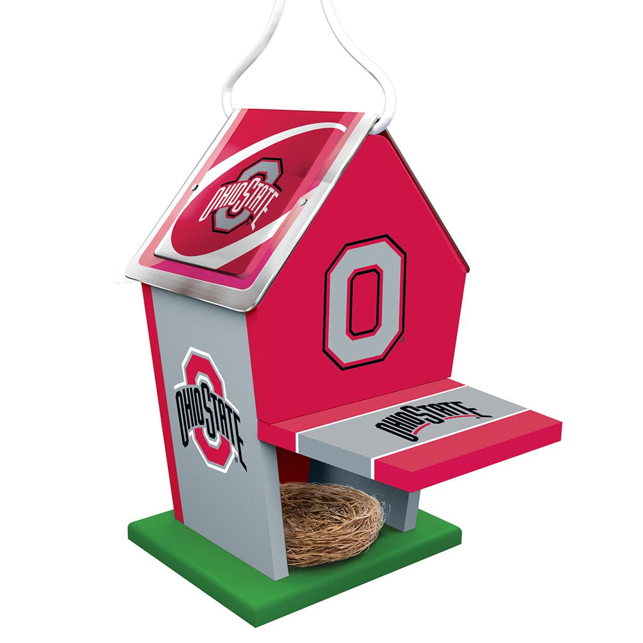 Ohio State Buckeyes Birdhouse