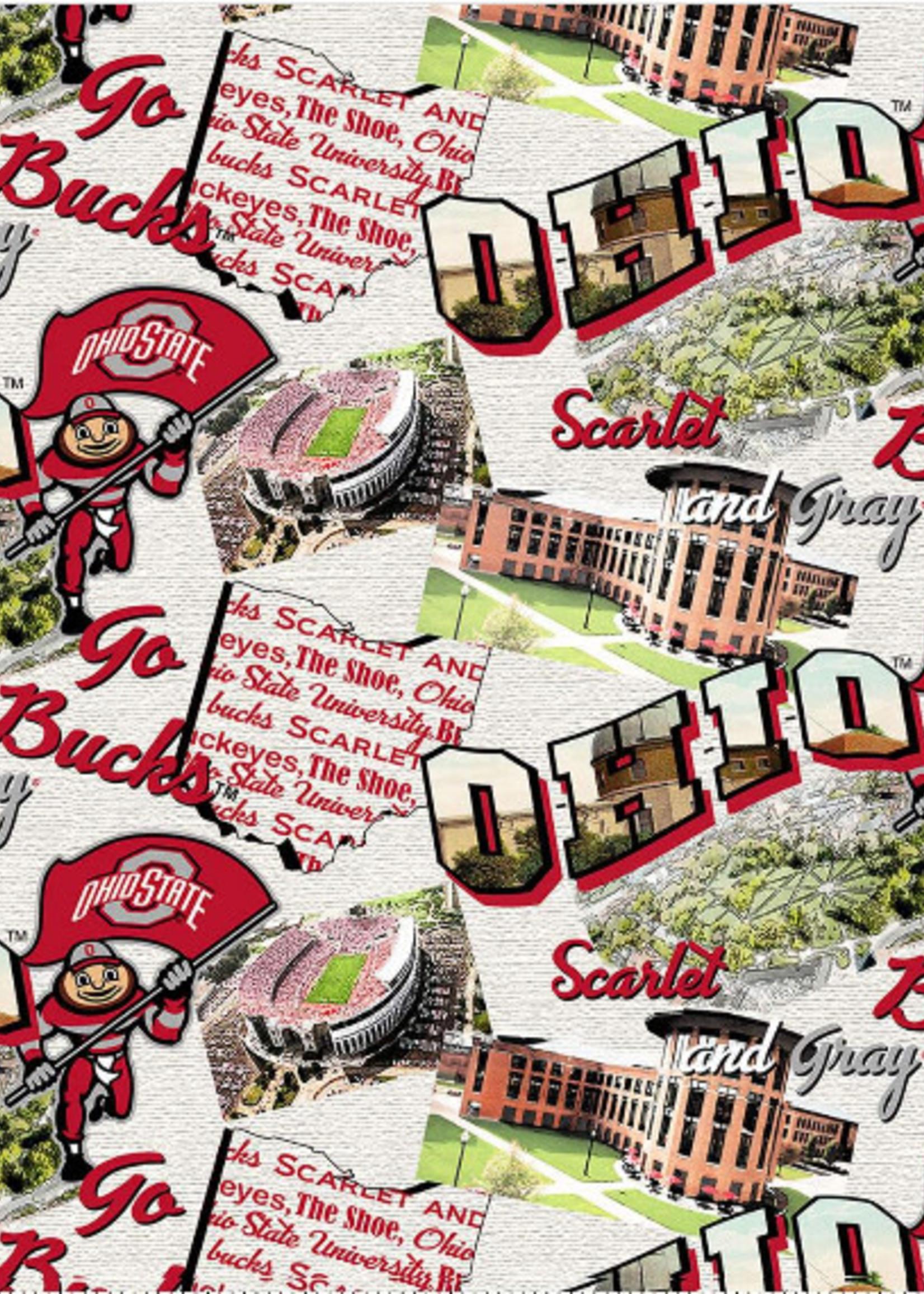 Ohio State Buckeyes Cotton Fabric - 2 YardsX45inches