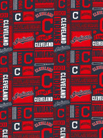 Cleveland Indians Cotton Fabric - 2 Yardsx45inches