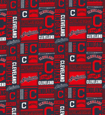 Cleveland Indians Cotton Fabric - 2 Yardsx45inch