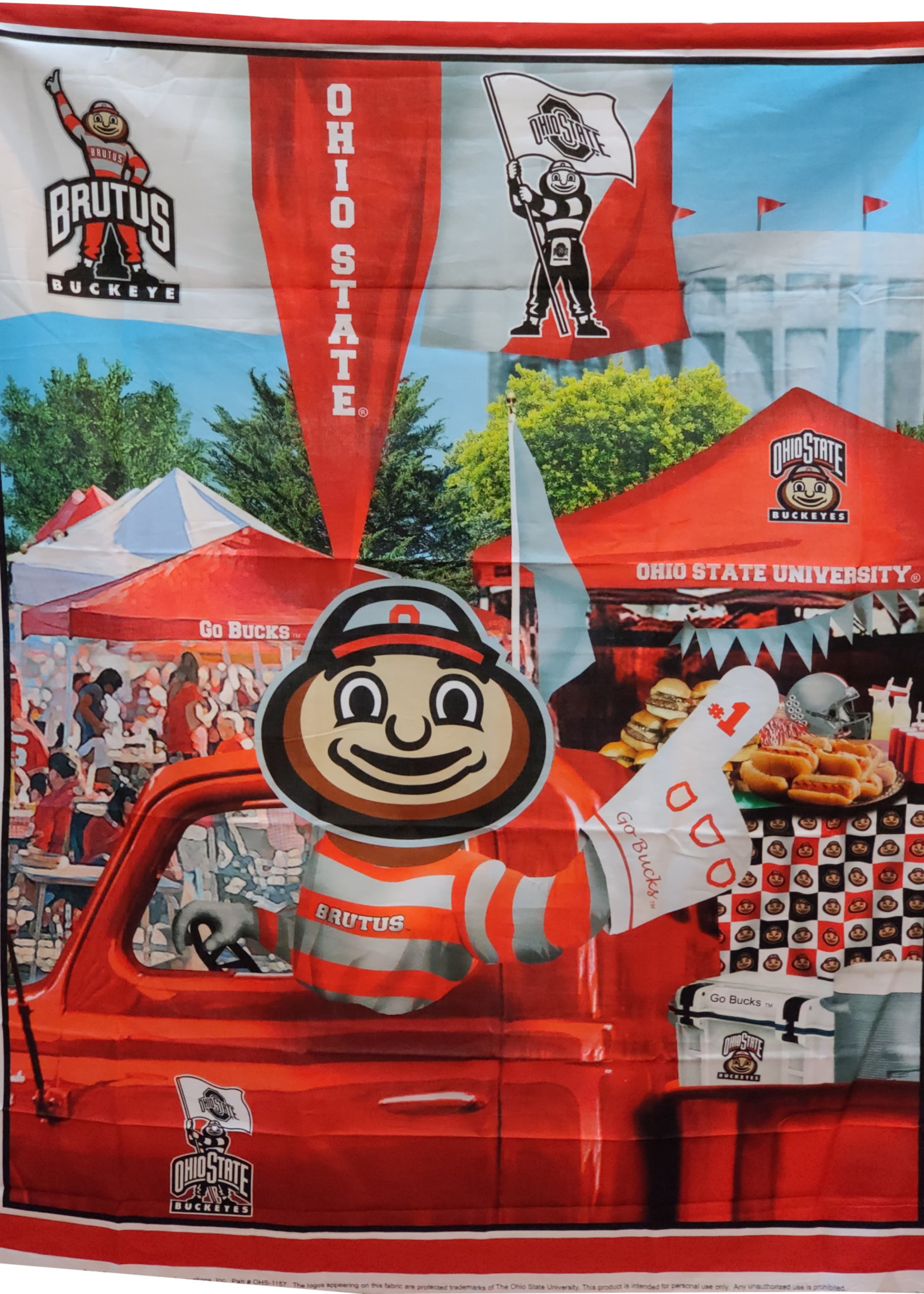 "Ohio State Buckeyes 36""X45"" Fabric Panel"