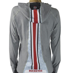 Bend Ohio State Buckeyes Womens Pony Tail Performance Hoodie/Grey