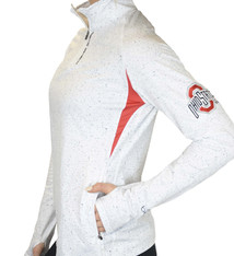 "Bend The Ohio State University ""White Noise"" 1/4 Zip Pullover/White"