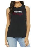 Bend Ohio State Buckeyes Womens Muscle Tank/Black