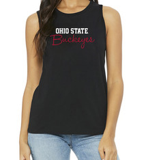 Bend Ohio State Buckeyes Womens Muscle Tank/Black