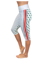 Bend Ohio State Buckeyes Game Day Grey Crop Leggings